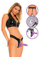 Fetish Fantasy Purple Deluxe Hollow Strap On Set 7.25 Inch...